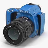 pentax k-s1 blue 3d model