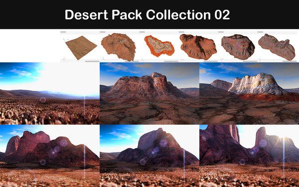 3d desert packed