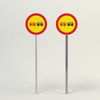 passing sign 3d model