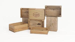 wine crates 3d model
