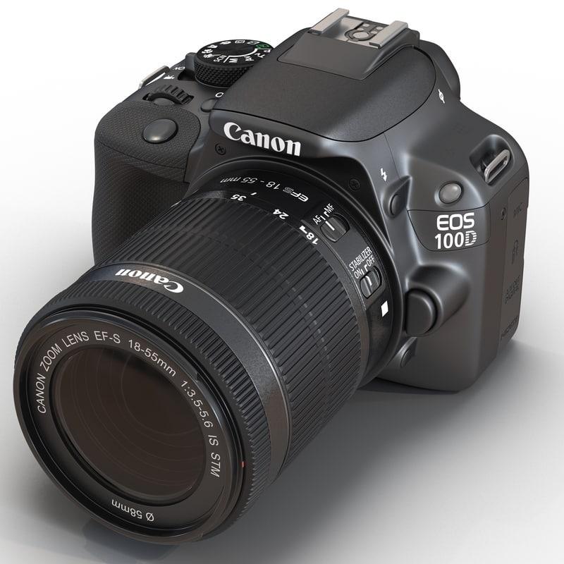 3d canon eos 100d model