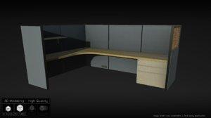 office cubicle 3d x