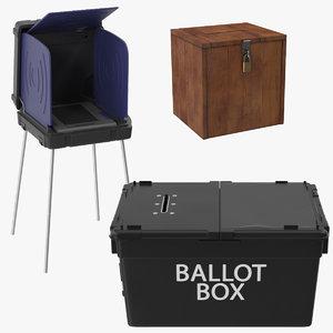 voting machine ballot 3d model