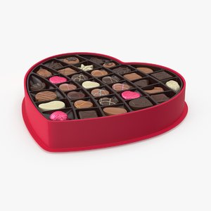 open box chocolates 3d max