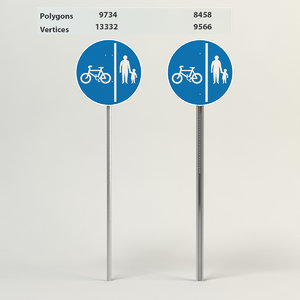 segregated pedal cycle pedestrian 3d max