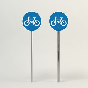 route used pedal cycles 3d model