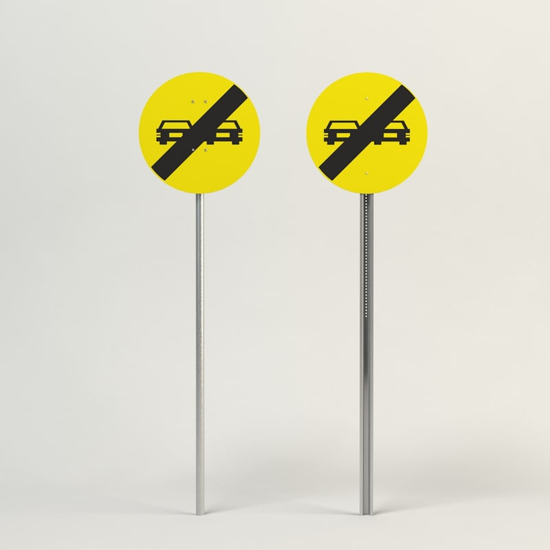 overtaking sign 3d max