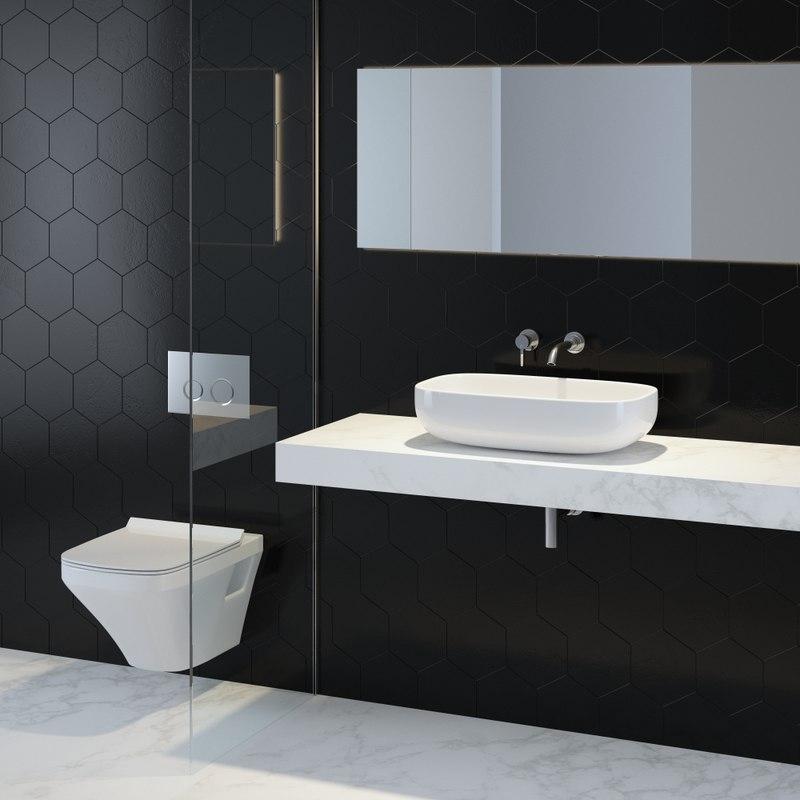 bathroom sink 3d ma