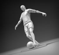 3d model stl footballer