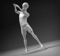 stl footballer 3d model