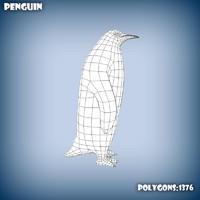 base mesh penguin 3d model