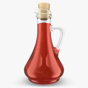 realistic vinegar red 3d model