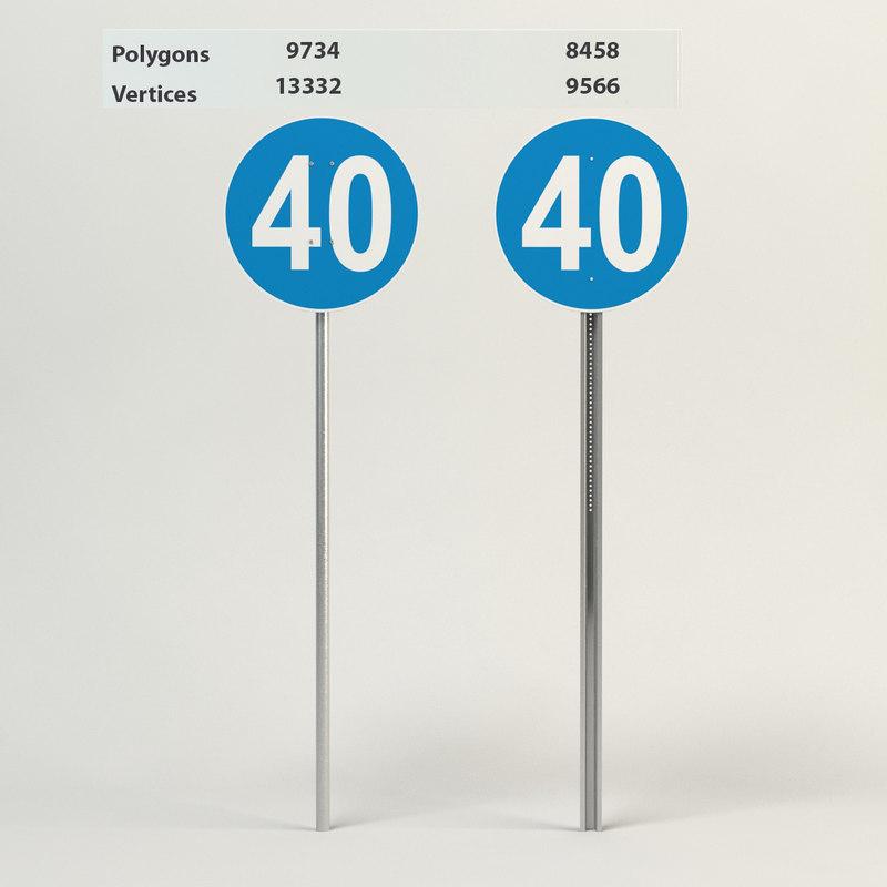 3d model of minimum speed 40