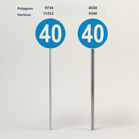 3d model of minimum speed 40