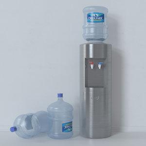 dispenser water 3d max