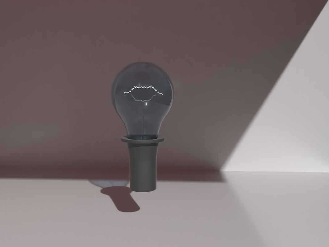 3d incandescent light bulb lamp