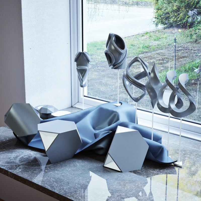 3d fractal futuristic ornament model