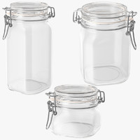 Hinged Glass Kitchen Jars