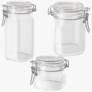 glass hinged kitchen jars max