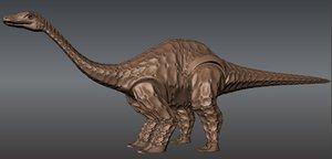 herbivorous dinosaur 3d model