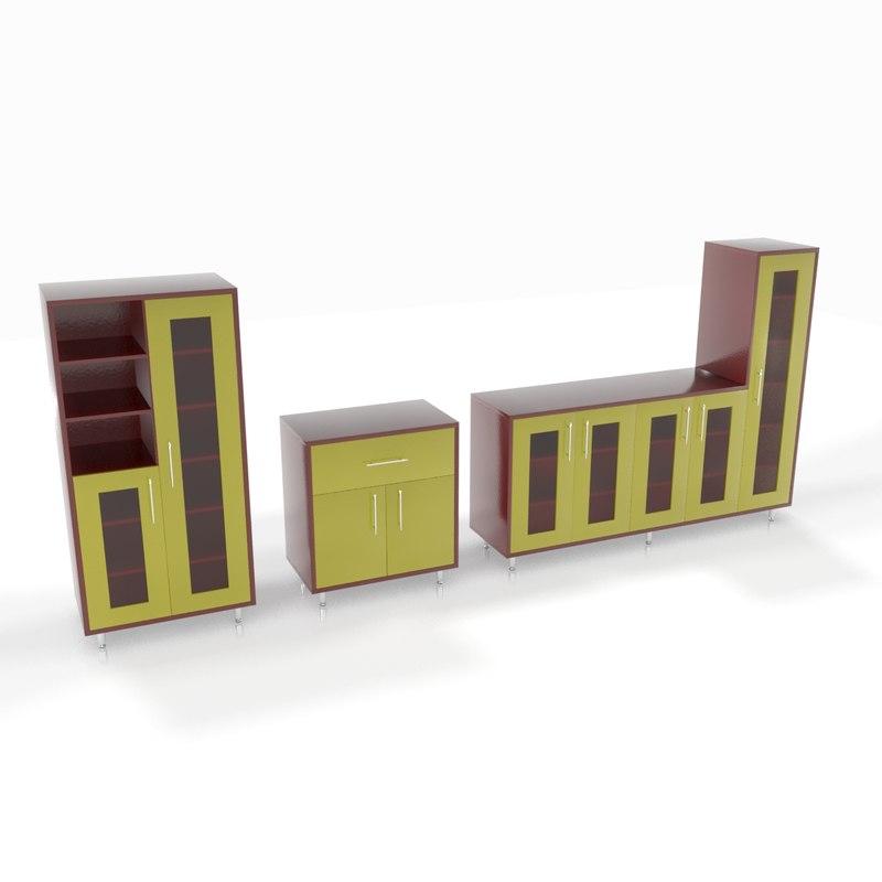 3d model of set closets