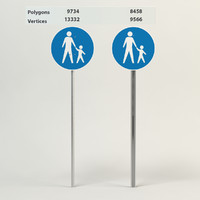 traffic sign pedestrians white max