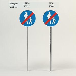 3d model end compulsory footpath