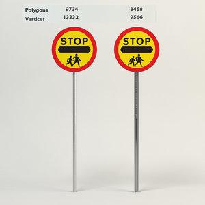 school crossing patrol 3d max