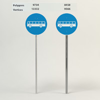 3d obj traffic sign bus entrance