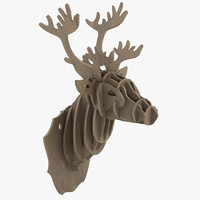 3ds cardboard stag head