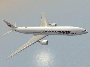 boeing 777-300 er japan 3d 3ds