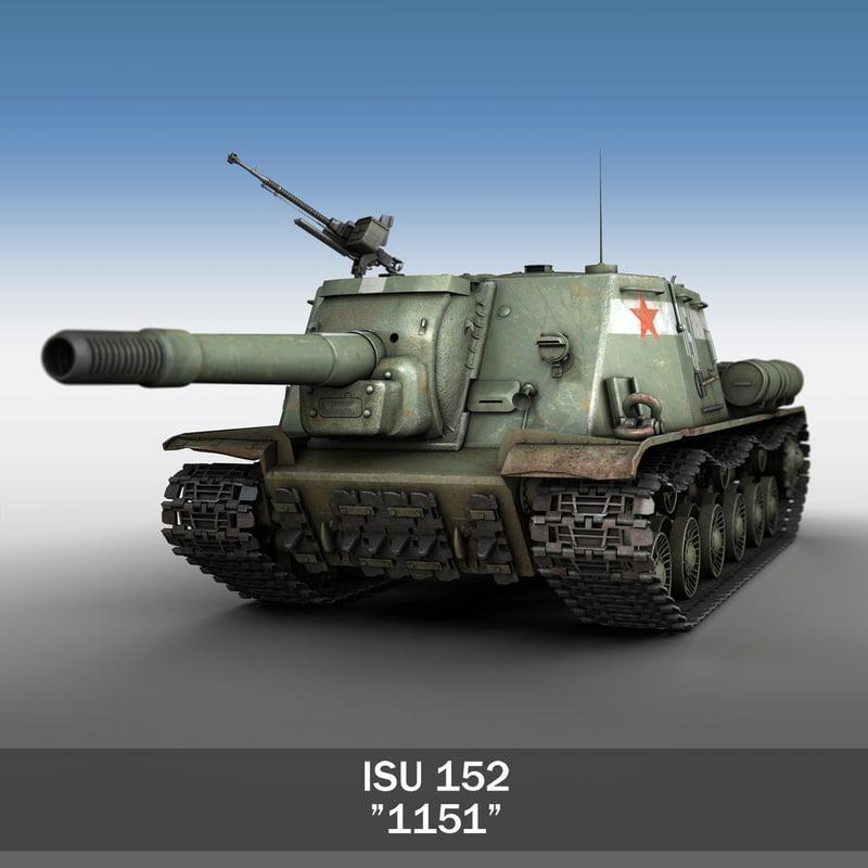 soviet heavy self-propelled gun c4d