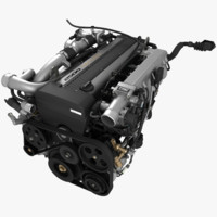 1jz-gte engine 3d max