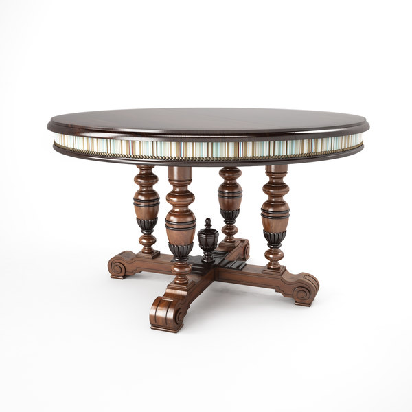 3d model table mis en