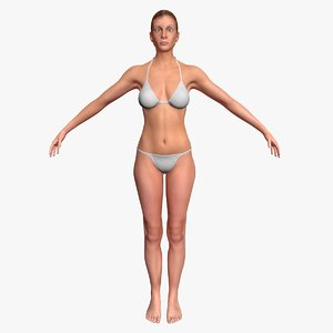 3d model cammie unrigged realistic female
