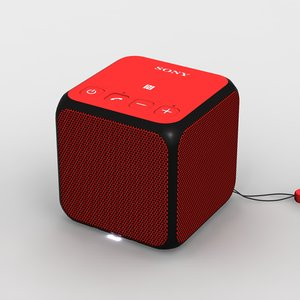 3d sony srs-x11 red bluetooth