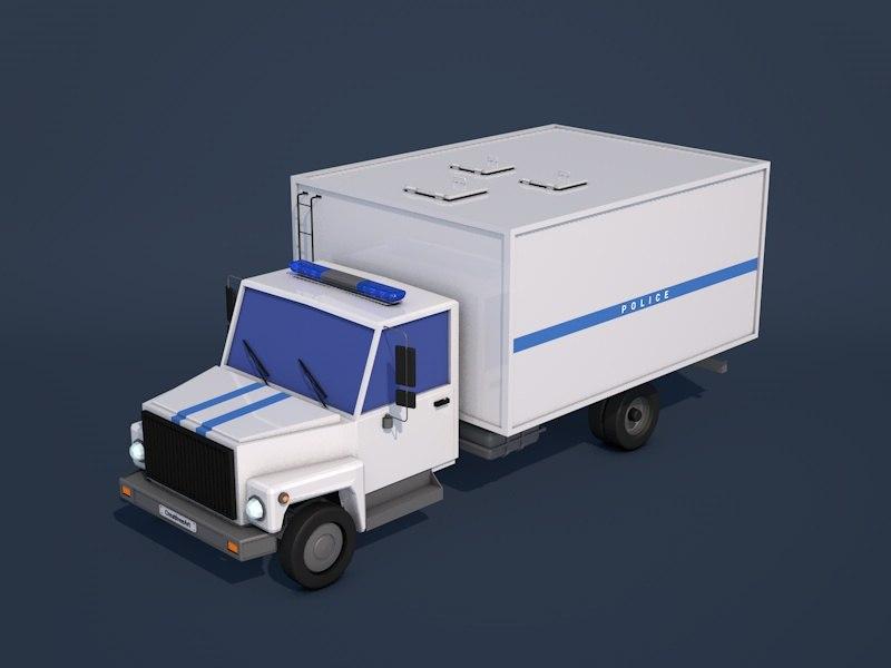 police truck 3d model