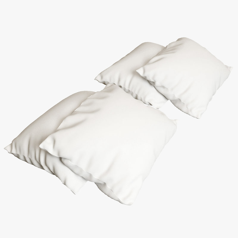 3d model of pillows