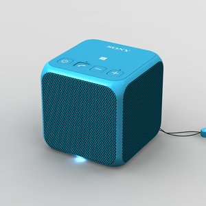 sony srs-x11 blue bluetooth 3d model