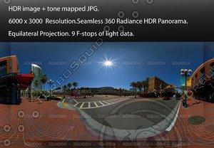 DOWNTOWN SAN DIEGO STREET SCENE, 360 PANORAMA #501