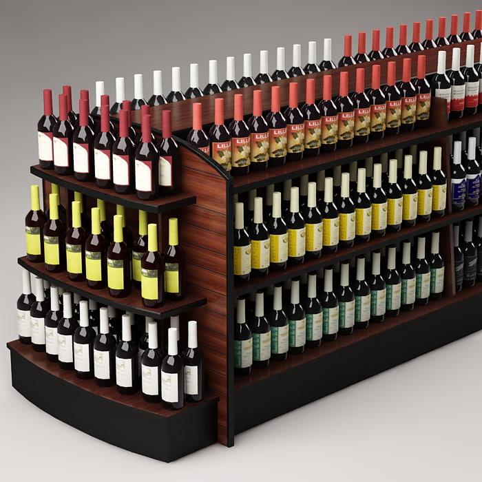 3ds max bottles shelf