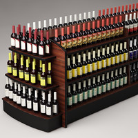 3ds max bottles shelf
