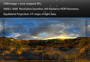 SUNSET IN HOLLYWOOD HILLS OVERLOOKING A LAKE, 360 PANORAMA #513