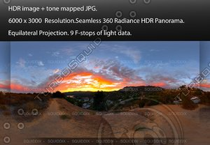 AMAZING SUNSET IN HOLLYWOOD HILLS, 360 PANORAMA #514