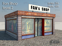 3d model fan shop level 2