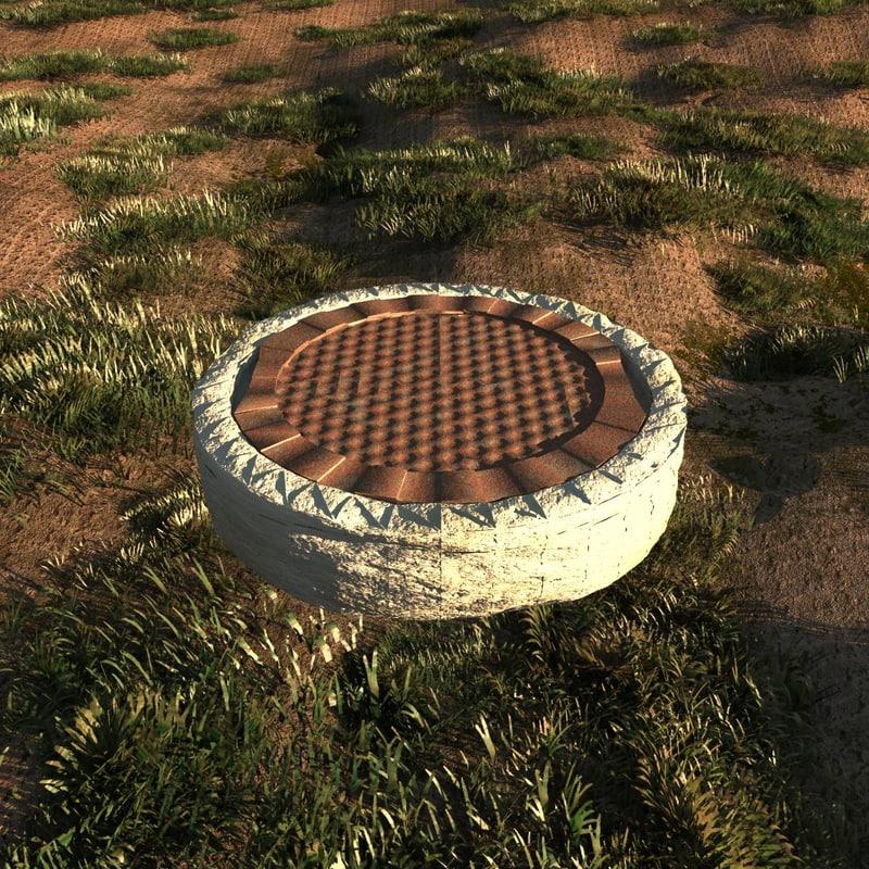 sewer manhole 3d model