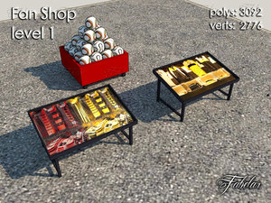 fan shop level 1 3d model