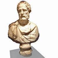 bust roman politician 3d model