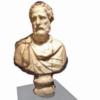 bust roman politician 3d model