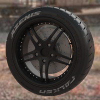 Wheel with tire Falken Azenis RT 615
